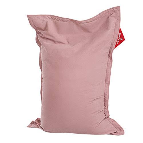 QSack Kindersitzsack Indy, mit Sitzsack Innenhülle, schadstoffgeprüfte EPS Toxproof Mikroperlen, 100x140 cm Sitzsack für Kinder, Neu (rosa)