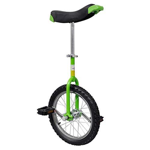 vidaXL Einrad Unicycle Fahrrad höhenverstellbar grün 16 Zoll