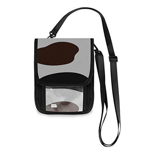 Marrón y blanco Chocolate Animal Hombres Billetera de viaje Billetera de viaje de seguridad ligera…