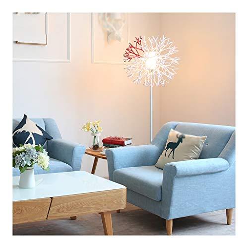 & Daglicht staande lamp, E27 lichtbron led-vloerlamp, pvc, eenvoudige en elegante koraal verticale vloerlamp, geschikt voor slaapkamer, woonkamer, verticale staande lamp