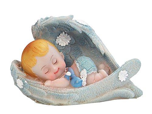 Tortenfigur blau Taufe Babyparty 1.Geburtstag Kindergeburtstag Tortendeko