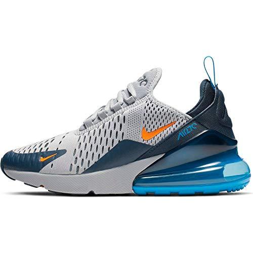 Nike Herren Air Max 270 (gs) Leichtathletikschuhe, Mehrfarbig (Wolf Grey/Total Orange/Midnight Navy 15), 38.5 EU