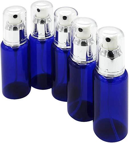 【Mirai.2022】 プラスチック スプレーボトル 5本セット 60ml 遮光 小分け 容器 詰め替え 霧吹き (ブルー)