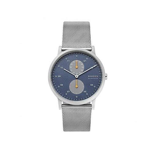Skagen Herren Analog Quarz Uhr mit Edelstahl Armband SKW6525