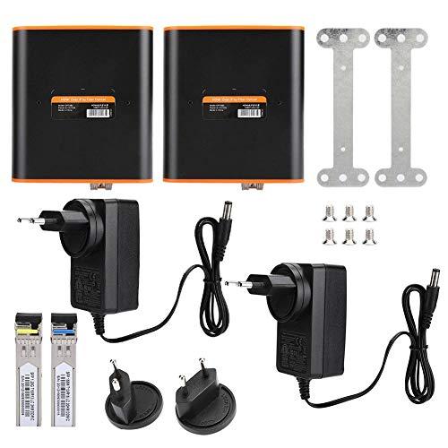 Xinwoer HDMI-Extender HDMI-LWL-Medien-Extender Sender Empfänger Singlemode SC/FC 20 km 1920 x 1080 60 Hz mit automatischem Ausgleichssystem(2)