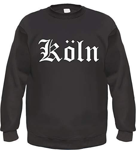Köln Sweatshirt - Altdeutsch - Bedruckt - Pullover 3XL Schwarz
