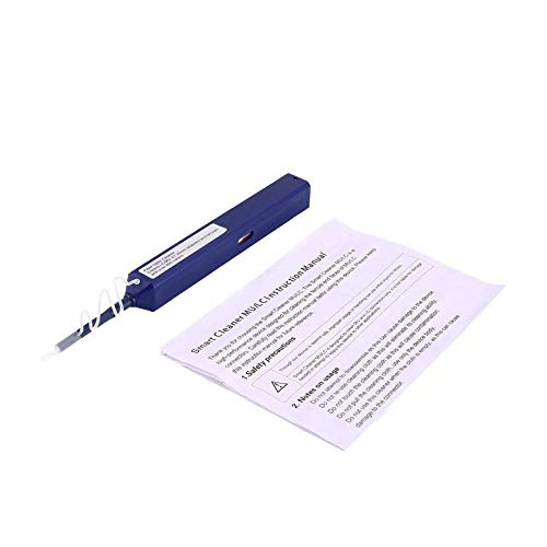 BianchiPatricia 1.25mm One-Click Fiber Optic Connector Cleaner Pen Tool for LC MU Adapter