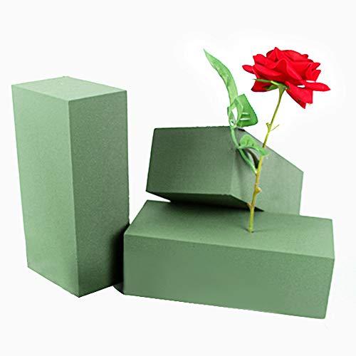 GOLRISEN Espuma Flores Artificiales, 3 unids Espumas para Floristerias y Boda, Espuma Floral para Arreglos y Decoraciones de Flores Artificiales y Manualidades, Esponja para Flores Frescas, Ve
