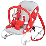 Safety 1st Koala Gandulita reclinable para bebé con funcion mecedora, Hamaca con arco de juego, ligera y compacta, color Rojo