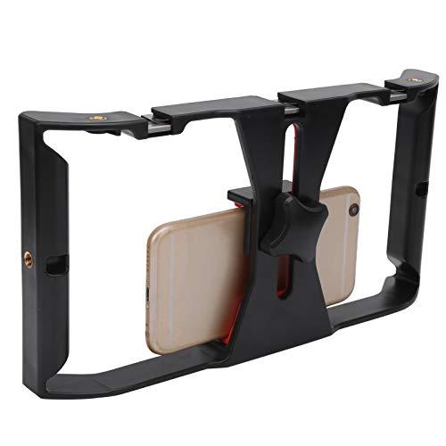 DAUERHAFT Múltiples interfaces expandidas Cómodo Soporte de Jaula para teléfono móvil Soporte de Jaula para teléfono móvil de Mano Duradero, para la mayoría de los Modelos de teléfonos móviles