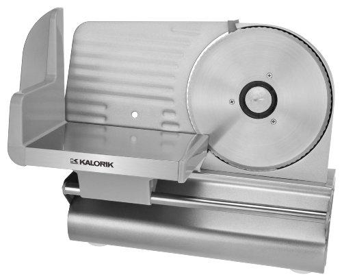 "Kalorik 200-Watt Electric Meat Slicer with 7.5"" Blade, Silver"