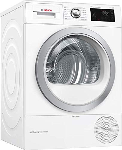 Bosch WTWH7660GB Serie 6, Freestanding Heat pump tumble dryer, 9 kg - White