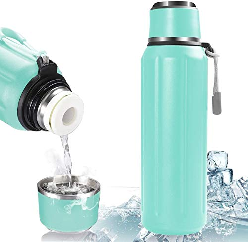 VAZILLIO Botella Termica, 600ml Botella Agua Acero Inoxidable, Termo Cantimplora Botellas de Frío/Caliente Sin BPA, Resistencia al Rayado, para Niños y Adultos, Hogar y Exterior