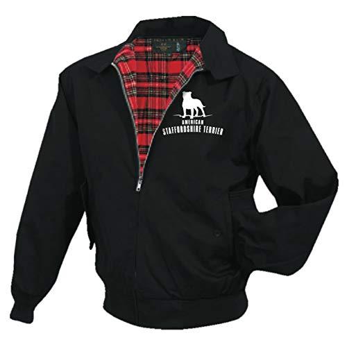 Männer und Herren Harrington Jacke American Staffordshire Terrier (mit Rückendruck)