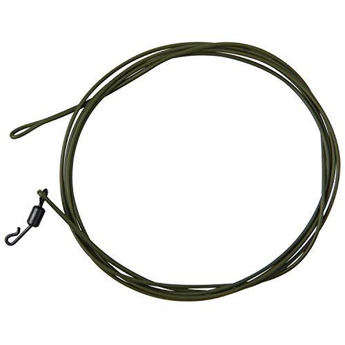 Carp Fishing Leader Line, 2pcs Carp Fishing Braided Kevlar Fishing Line Hair Rig Core Tackle Accessories 1M 80LB