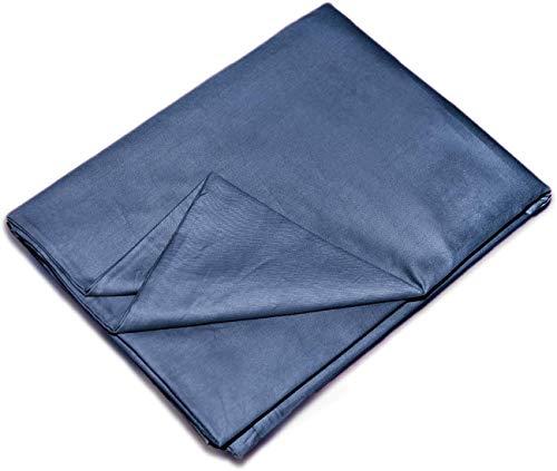 """YEMYHOM 100% Baumwolle abnehmbare Bettbezüge für beschwerte Decken innere Schicht 80"""" x 87"""" Duvet Cover blau"""