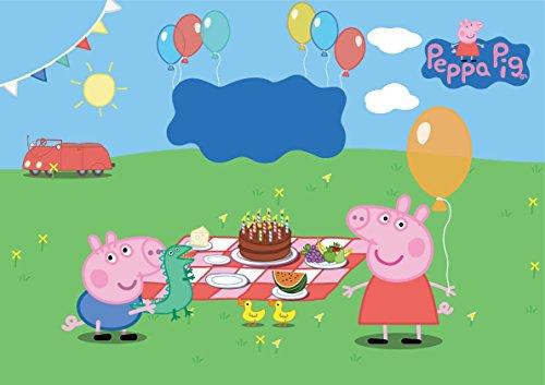 Dolce idea CIALDA in ostia PEPPA PIG personalizzabile formato foglio A4 decorazione per torta