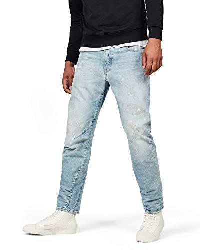 G-STAR RAW Herren Arc 3D Relaxed Tapered Jeans, Blau (Lt Aged Restored 9920-8970), 29W / 32L