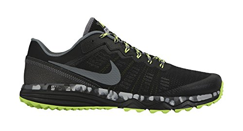 Nike Men's Dual Fusion Trail 2 Running Shoe Black/Volt/Wolf Grey Size 8 M US