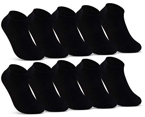 10 | 20 | 30 Paar Sneaker Socken Herren Damen Schwarz Weiß Grau Baumwolle 16900 (10x Schwarz 39-42)