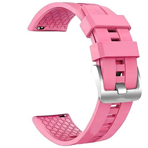 KSFBHC Armband Ersatz, for Huawei Uhr GT2 46mm Smart-Uhrenarmband-Ersatz-Uhrenarmband-Frauen-Mann-Sport-Armband (Color : Pink)