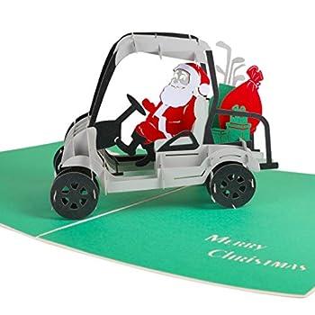 Reca Creations Santa Christmas Card 3D Pop Up Greeting Card Merry Christmas Card for Holiday Xmas New Year