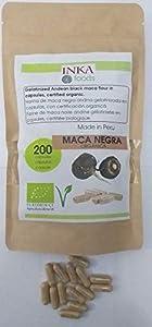 Maca negra andina en capsulas orgánica, bolsa de 200 capsulas