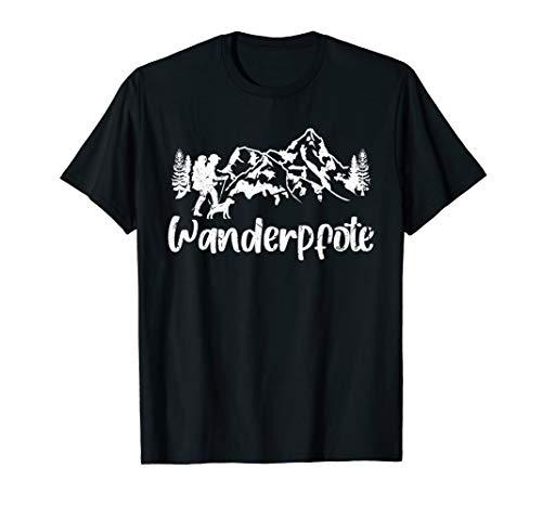 Wanderpfote Hund Wandern Bergsteiger Berge Geschenk T-Shirt