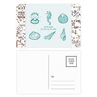 青海馬海洋生活パターン 公式ポストカードセットサンクスカード郵送側20個