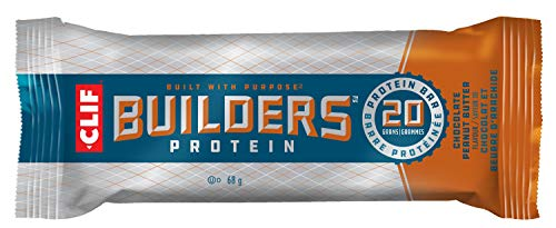CLIF BUILDERS - Protein Bars - Chocolate Peanut Butter Flavour - (68 Gram Non-GMO Bars, 12 Count)(Packaging and Formula May Vary)