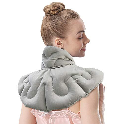 Aroma Season Calentador de cuello calentado sin sented para el dolor gris microondas