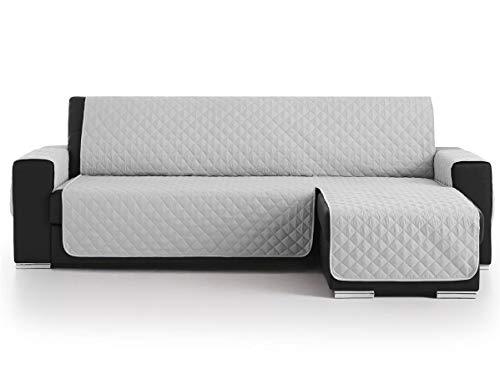Lanovenanube - Funda Chaise Longue Acolchado - Práctica - Izquierda 240 cm - Color Gris Claro C21