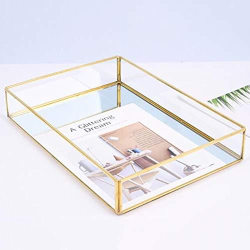 XKMY Joyero organizador nórdico vintage para niñas, caja de joyería de cristal, caja de almacenamiento para joyas, caja de regalo de gemas para el hogar (color: Style4)