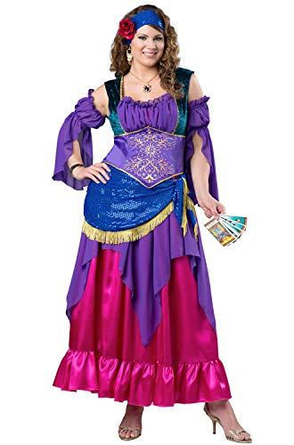 InCharacter Tarot Treasure Adult Costume, Medium Purple