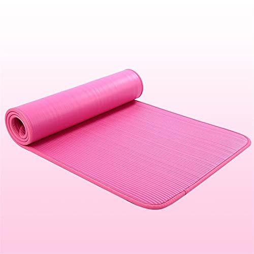 Estera de yoga Nuevos 10 mm de espesado que no es resbalado 183cmx61cm yoga alfombrilla gimnasio alfombrillas deportes cojín gimnástico Pilates Pads con bolsa de yoga;Correa Buena flexibilidad y fuert