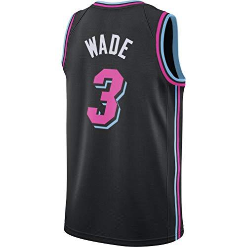 Rencai Dwyane Wade # 3 Jersey del Baloncesto de los Hombres, Miami Heat Retro Swingman de los Jerseys (Color : 1, Size : XS)