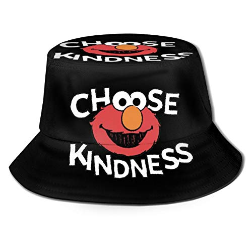 LeoBird Elmo's World Bucket Hats Men Outdoor Cap for Beach Black