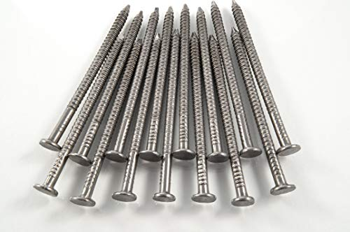 50 x Annular Ring Shank Nails 40mm Stainless Steel Nails for Roofing and General Purpose