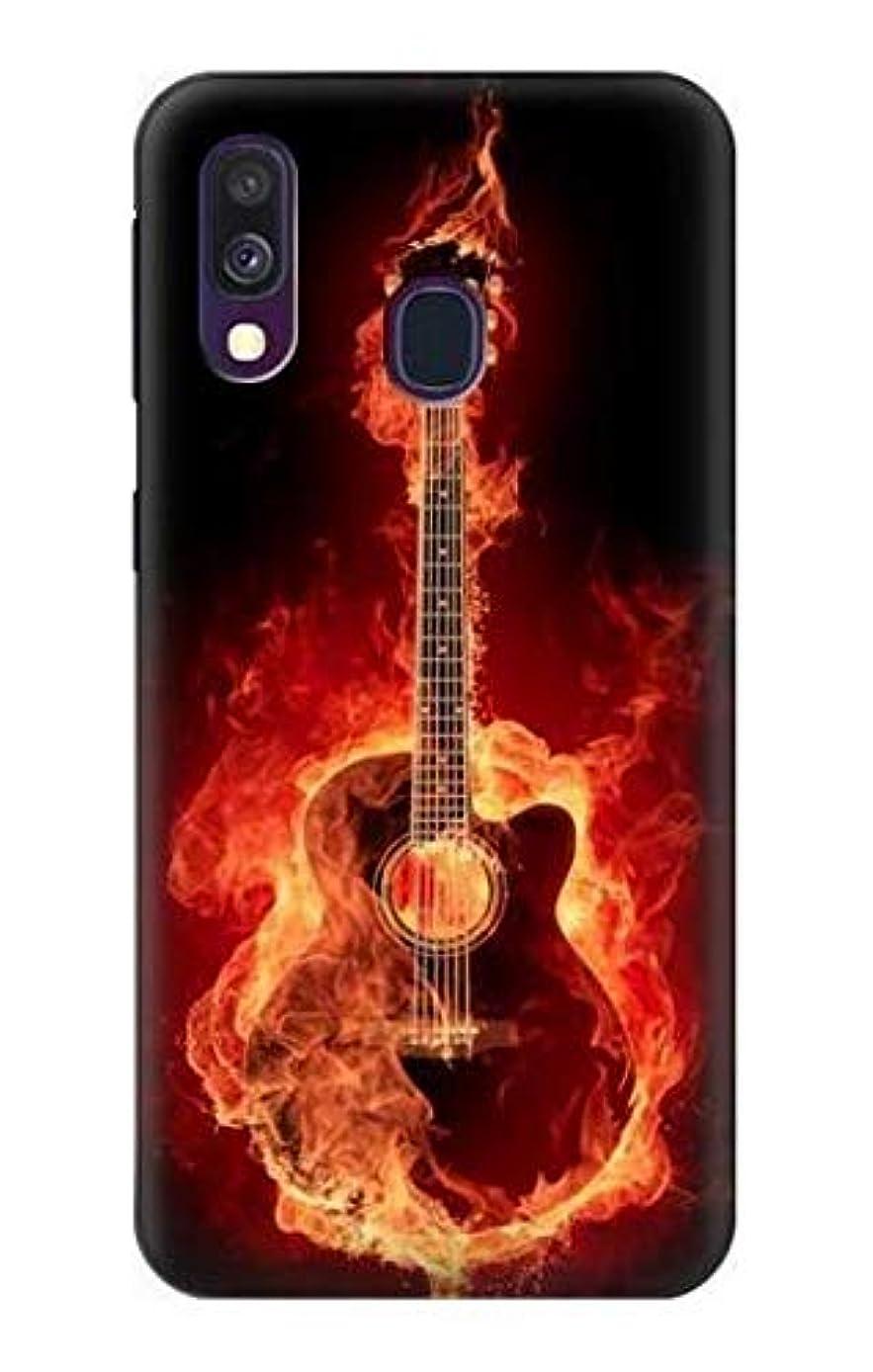 R0415 Fire Guitar Burn Case Cover for Samsung Galaxy A40
