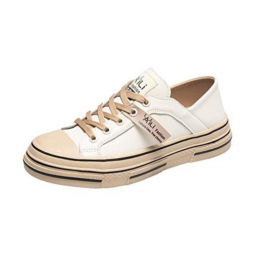 Lente Dames Platform Sneakers Klassiekers Lage Casual Platte Schoenen Ronde Neus Veters Espadrilles Wandelen Wandelen Dikke Sneakers