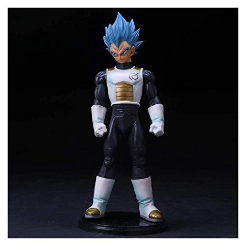 LHAHGLY Modelo de Personaje de Anime, Dragón Bola Anime Figura 23 cm Blue-Hair Vegeta Estatua Estatua Modelo Coleccionables Recuerdo Decoraciones Marioneta Vegeta, Juguetes para niños Dragon Ball