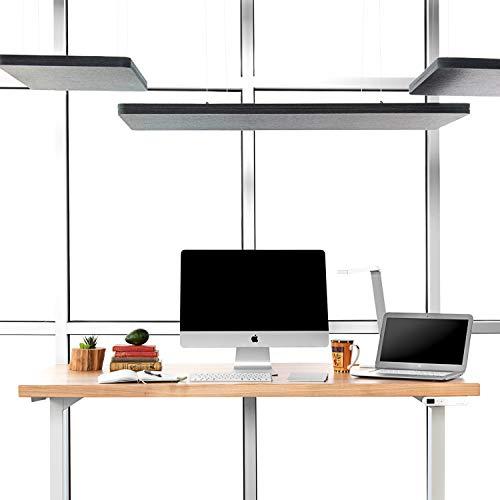 UPLIFT Desk - Rectangular Acoustic Ceiling Cloud, 52x22 (Blue)