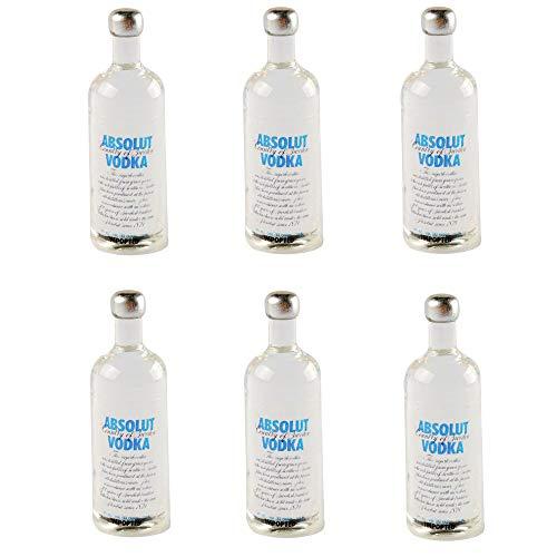 NWFashion Miniature Vodka Wine Bottle for Dollhouse Kitchen Scenery Accessories (6PCS)