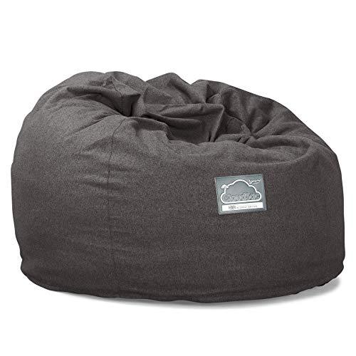 Lounge Pug, CloudSac 510 XL, Grand Pouf à Mémoire de Forme, Canapé, Interalli Laine Gris