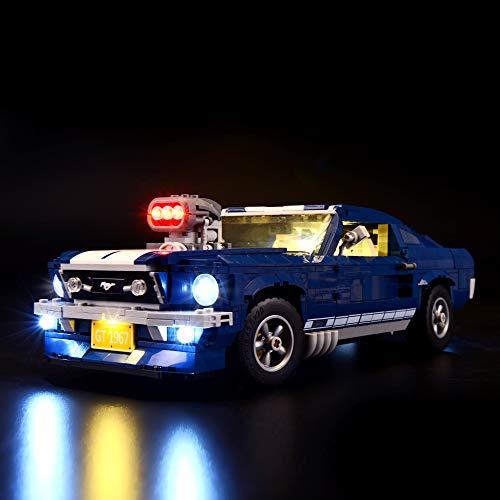 BRIKSMAX Kit de Iluminación Led para Ford Mustang-Compatible con Ladrillos de Construcción Lego Modelo 10265, Juego de Legos no Incluido