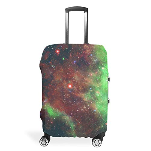 Travel Suitcase Cover – Universe Personalised Suitcase Protector 4 Sizes Fit Most Luggage, White (White) - BTJC88-scc
