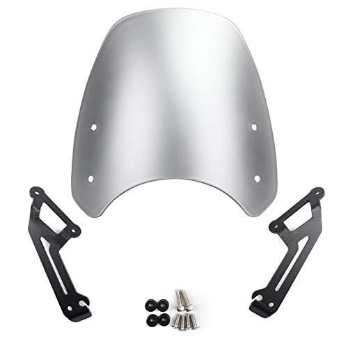 RKRLJX Motorcycle Windscreen PROTECCIÓN DE PROTECCIÓN Fit For Ducati Scrambler 2015-2018 Cubiertas De Pantalla De Motos 2016 2017 Deflectores De Viento Motocicleta Deflector Pantalla del Viento