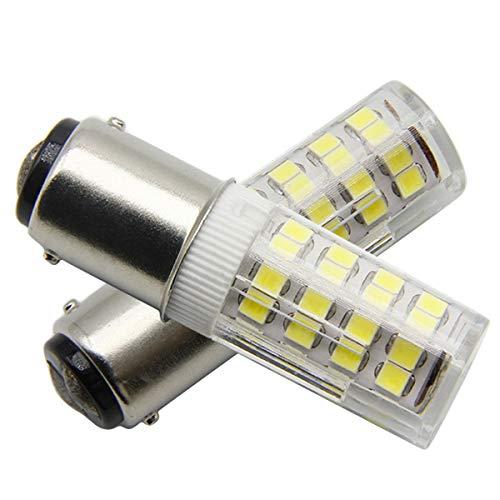 Ymm Bombilla LED B15D 4W LED Blanco Frío 6000K Non-Dimmable Equivalente a Lámpara Halógena de 45W Doble Bayoneta B15D LED AC 220V Luz Para Máquina de Coser Lámparas (2 unidades)