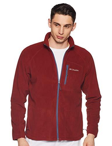 Columbia Herren Fast Trek II, Fleece-Jacke mit durchgehendem Reißverschluss, Rot/Blau (Red Jasper, Dark Mountain), L