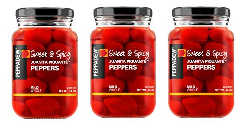 Peppadew Sweet & Spicy Mild Piquante Peppers, 14 Ounce (Pack 3)